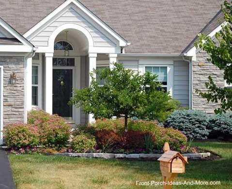Pin by deanna schuller on garden gr8tness pinterest for Front porch landscaping designs