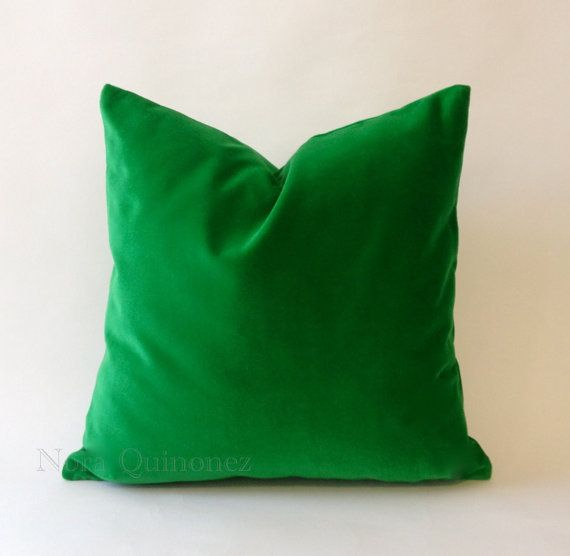 Decorative Pillows With Green : 16x16 Kelly Green Decorative Throw Pillow Cover - Medium Weight Cotto?