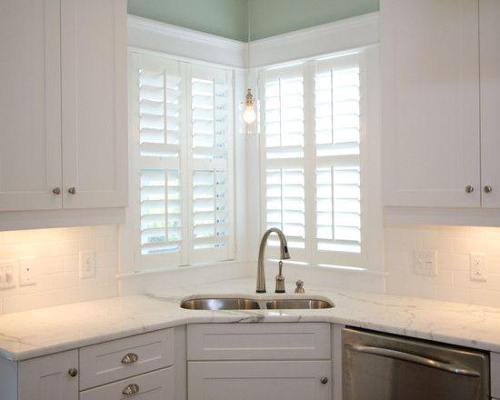 Corner sink kitchen plans pinterest - Corner windows in kitchen ...