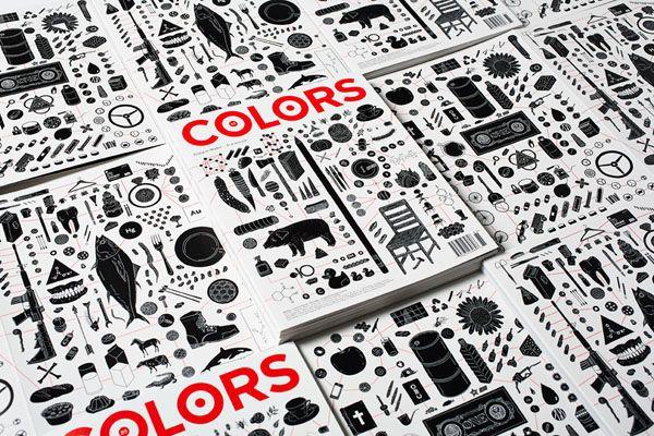 Graphic Design for Colors Magazine by Felipe Rocha at Fabrica