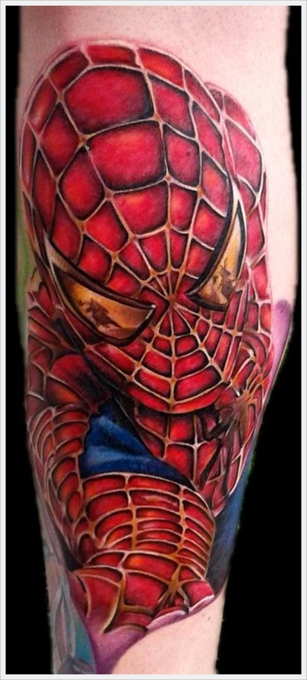spiderman tattoo superhero tattoos pinterest. Black Bedroom Furniture Sets. Home Design Ideas