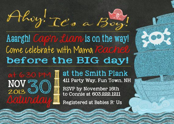 Pirate Baby Shower Invitations was very inspiring ideas you may choose for invitation ideas