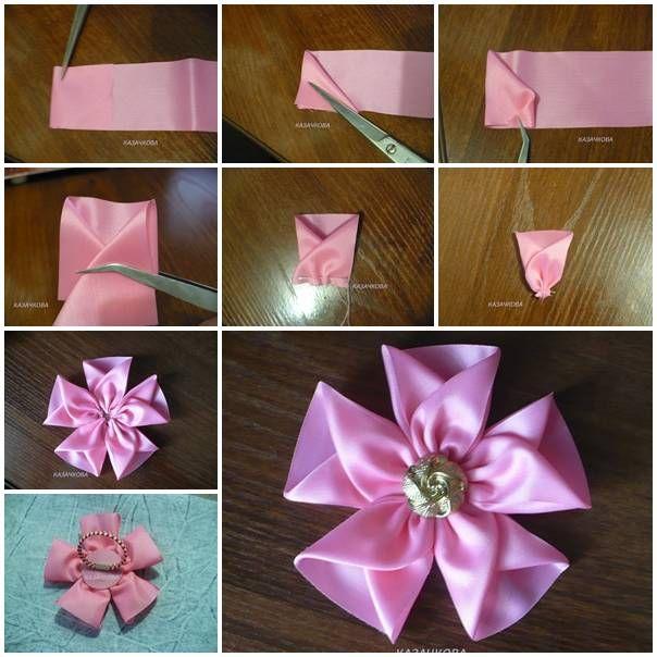 diy no sew ribbon flowers - photo #27