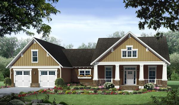 cottage country craftsman house plan 59054