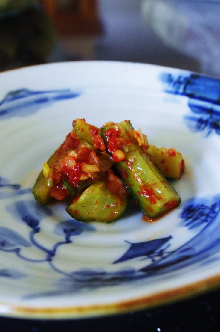 Spicy Korean cucumber salad - see blog for recipe, and more :)