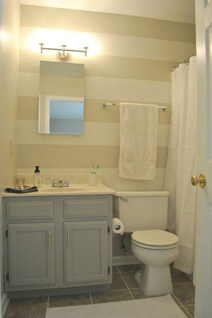 Accent wall for bathroom neutral el arroyo pinterest for Bathroom accent wall