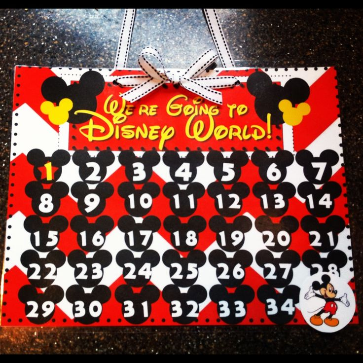 Disney Countdown Calendar- Free Printable