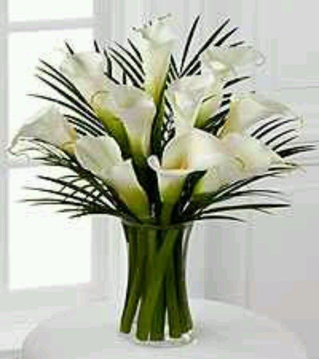 Calla lily table arrangement arum calla lily pinterest - Floreros modernos ...