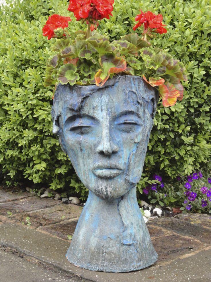 Garden Face Pot Garden Art Ideas Pinterest
