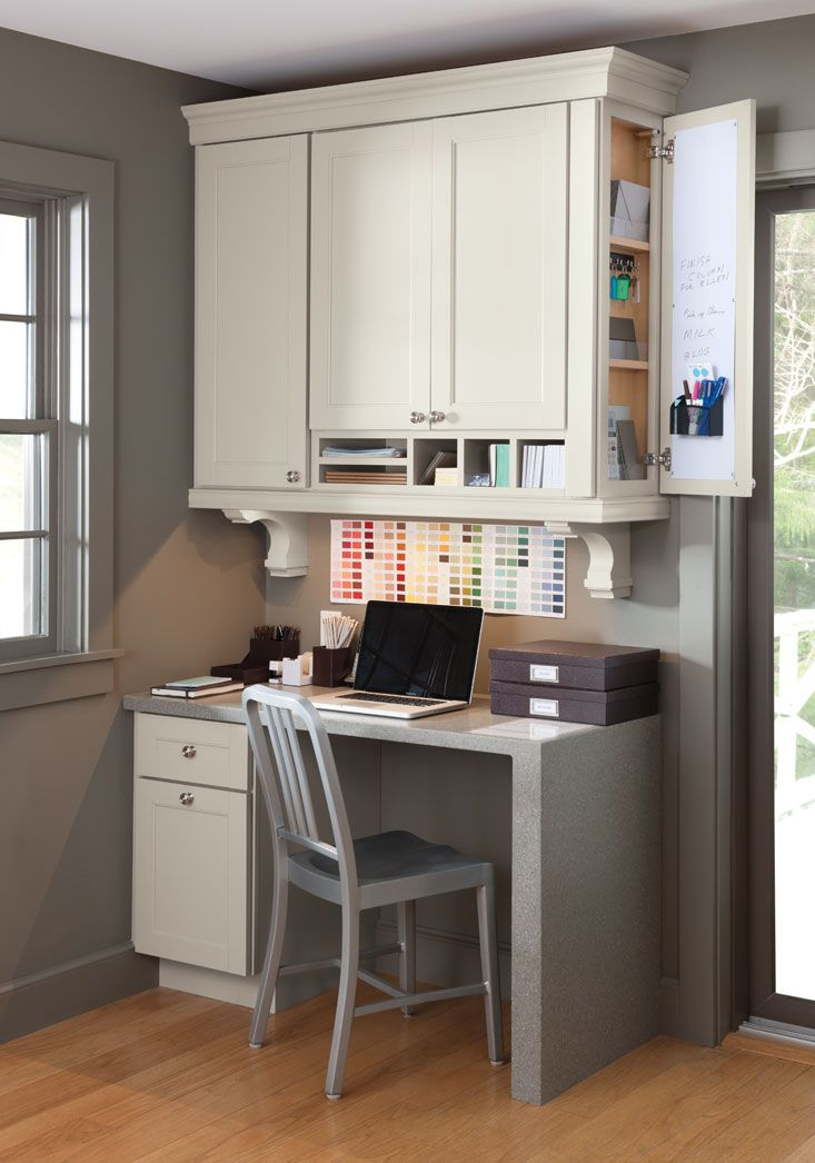 Consider Adding A Desk Workspace To Your Kitchen Like This One At