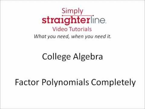 general strategy for factoring polynomials completely
