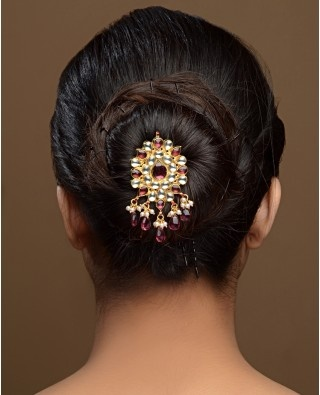 Hairstyle Ideas. Dont forget the option to accessorise. Floral Jooda ...