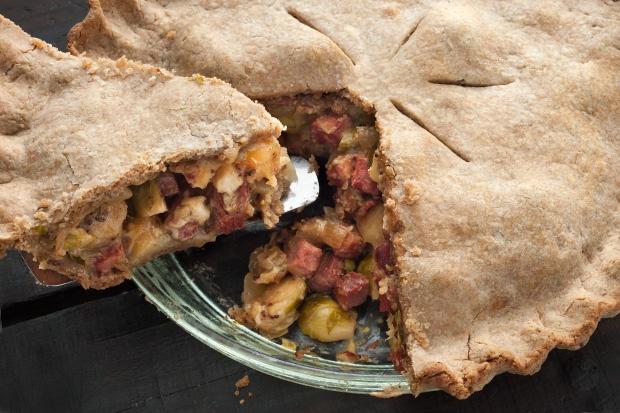 Savory Pastrami and Cheese Pie