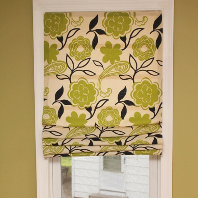 DIY roman shades with cheap mini  blinds