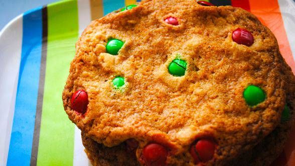 giant m amp m cookies