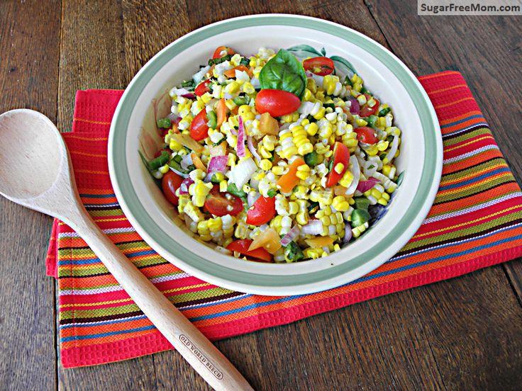 Fresh Corn Salad With Scallions And Basil Recipes — Dishmaps