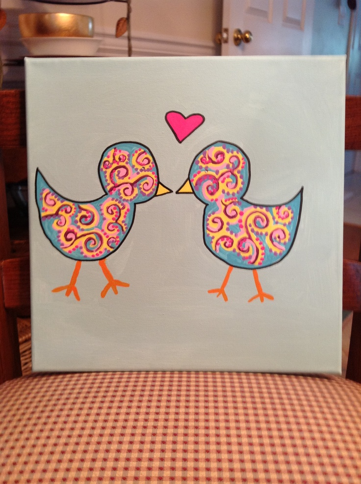 Decorating Ideas > Love Birds Canvas Idead For Dorm Decor  Maysen  Pinterest ~ 062437_Dorm Room Canvas Ideas