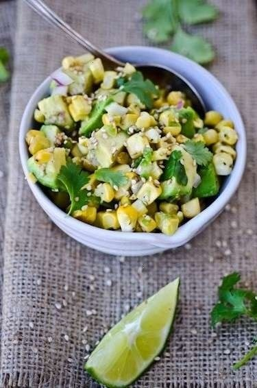 asian corn and avocado salsa | Avocado | Pinterest