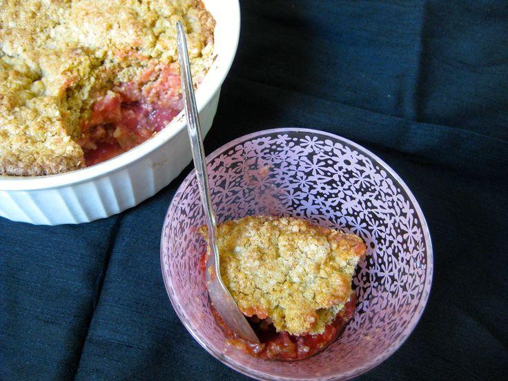Gluten-free Strawberry Rhubarb Cobbler | Recipes | Pinterest