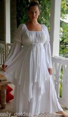 white dress peasant layered renaissance m l xl 1x 2x 3x 4x