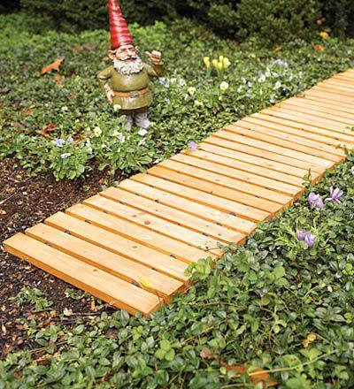 wooden pathway garden pinterest
