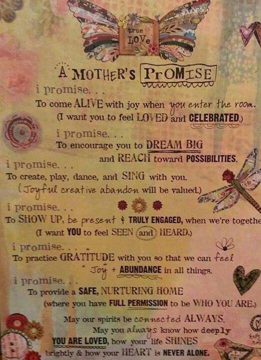 mother's promise | Lactancia, maternidad y otras | Pinterest