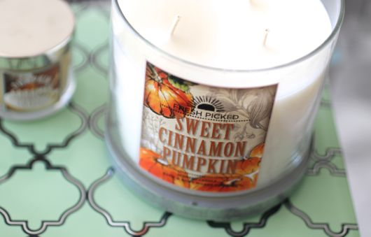 ::pumpkin spice candles::