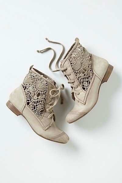 Anthropologie lace inset boots. I've been watching too much Downton Abbey.