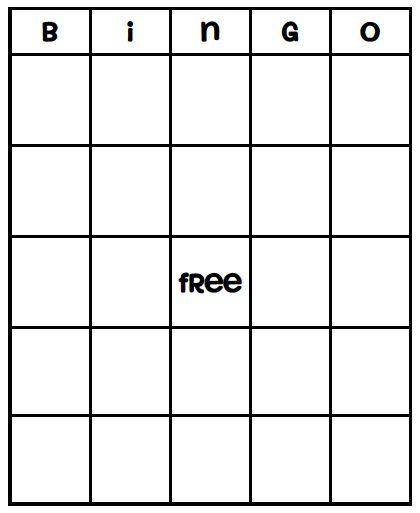 Blank Bingo Card Template - Every Bingo Game ever imagined has been ...