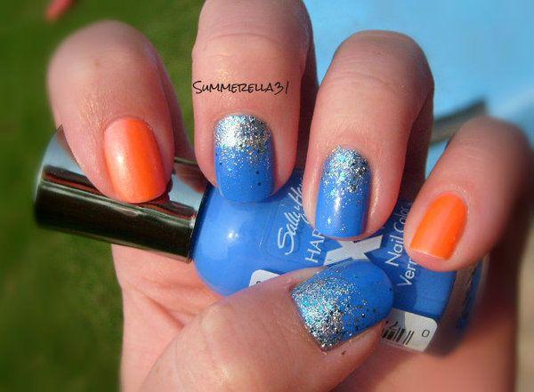 OKC Thunder Nails Take Two | Dream Apperance | Pinterest