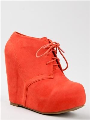 Glaze CAMILLA-1 Lace Up Wedge Bootie | Shop Glaze Shoes