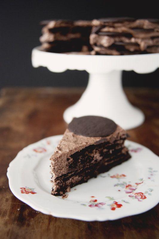 Dark Chocolate Coffee Ice Box Cake | Sweets/Desserts | Pinterest