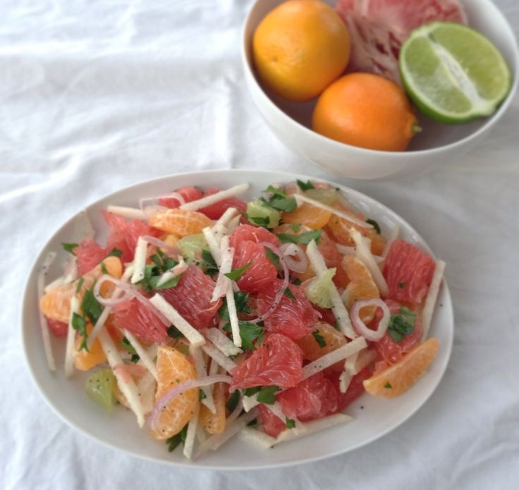 Citrus Salad with Poppy Seed Dressing - Almonds & Avocados