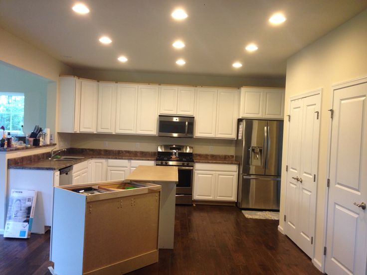 on tops of cabinets 6 28 2014 Ryan Homes Palermo model Elevation A