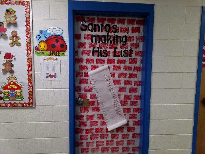 Santa's list door | Bulletin Boards and Door Decorations | Pinterest