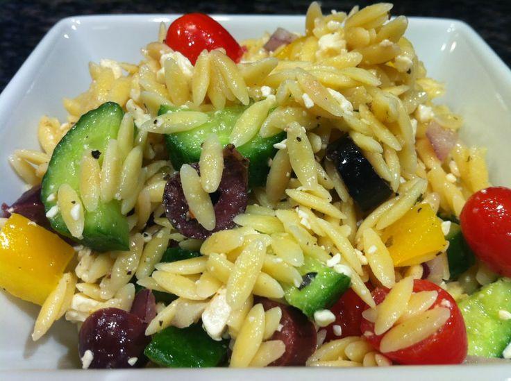 Greek Orzo Salad Recipe — Dishmaps
