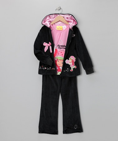 Velour Zip-Up Hoodie Set - Girls by Blow-Out on #zulily today! fall