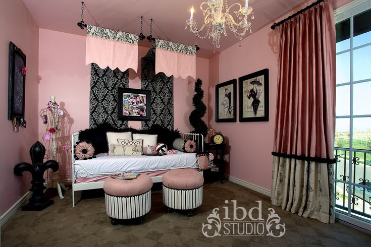 Pin by stacey koschak keith on brentleigh 39 s new room for Black and white girls bedroom ideas