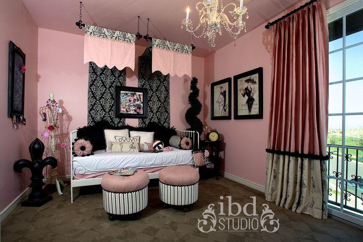 Little Girls Black And Silver Room Creative Kids Bedrooms IBD