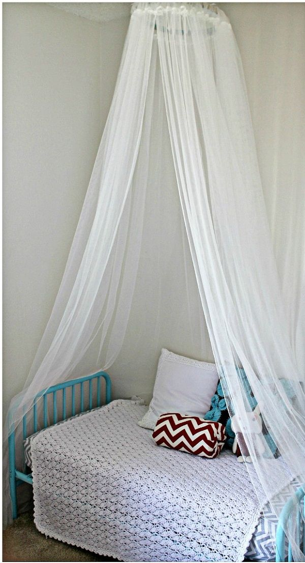 Canopies diy bed canopy for Diy crib canopy