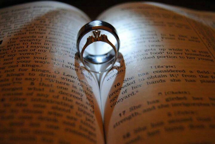 Wedding rings with Bible   Leonard   Pinterest