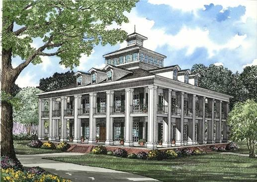 Southern Plantation House Plans Home Pinterest