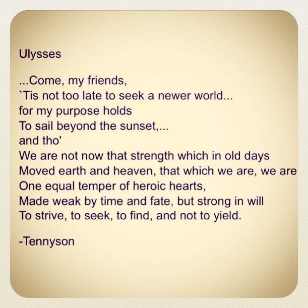 an analysis of ulysses a poem by lord alfred tennyson Ulysses alfred, lord tennyson ulysses lyrics  though not published until 1842, the poem was composed in 1833, only a few weeks after tennyson learned of the death of his friend, arthur henry .