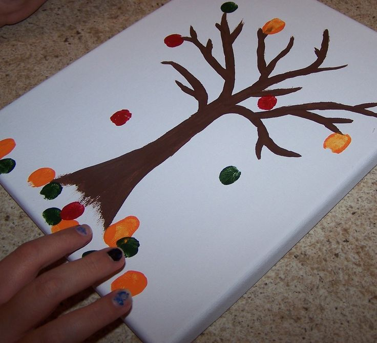 Diy fall fingerprint craft seasons craft pinterest for Fall diy crafts pinterest