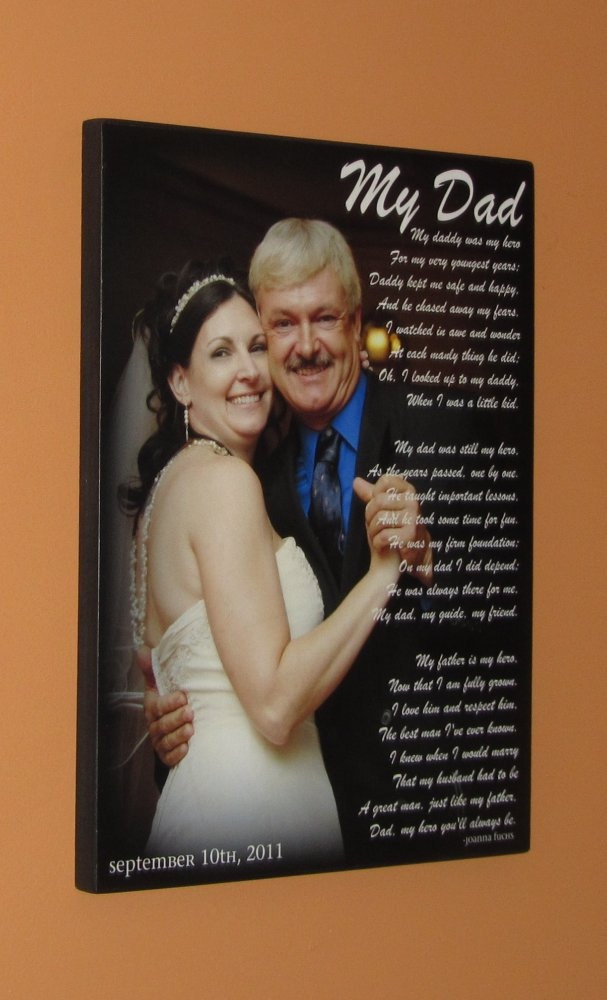 WEDDING GIFT- First Dance Photo- Father Daughter Dance- Personalized ...