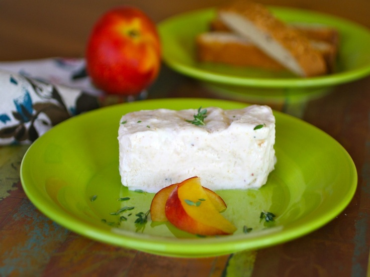 Peach and Thyme Semifreddo by Grab a Plate...with coconut cream