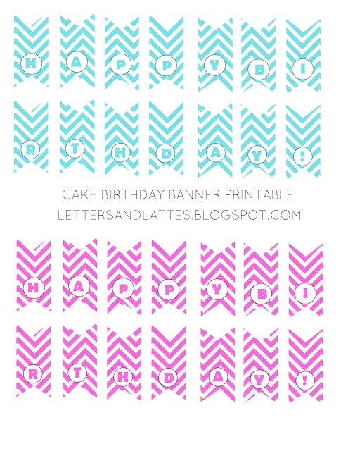 Sweet image intended for cake banner printable