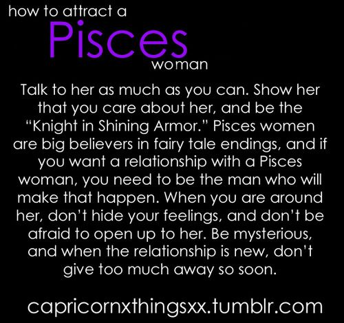 How to attract a pisces woman as an aquarius man