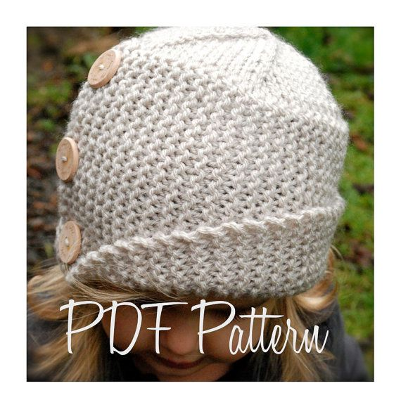 Knitting Pattern For Cloche Hat : Knitting PATTERN-The Piper Cloche (Toddler, Child, Adult sizes)