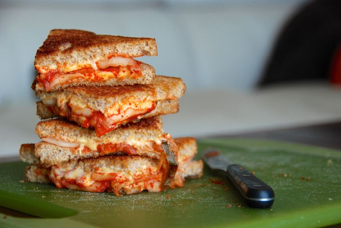 kimchi grilled cheese - two of my favorite things in one convenient ...